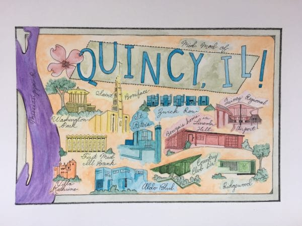 Mid Mod Quincy Postcards